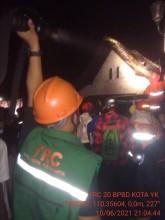 Terjadi Kebakaran di Kampung Serangan Ngampilan Kota Yogyakarta